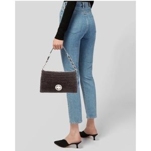 Rare Kate Spade Rose Hall Monette Brown Clutch Bag